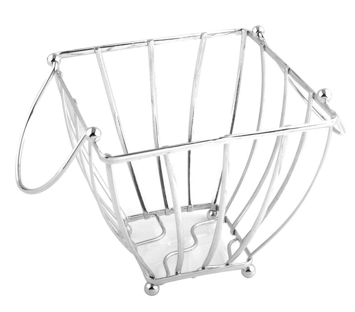 Фруктовница Trina, квадратная. 93-TR-01-0993-TR-01-09Современный дизайн фруктовницы, изготовленной из металла, идеально впишется в интерьер современной кухни. Фруктовница квадратной формы представляет собой узор из стальных прутьев с ручками, что облегчает ее перемещение. На нижней части фруктовницы есть четыре металлических шарика - для устойчивости.