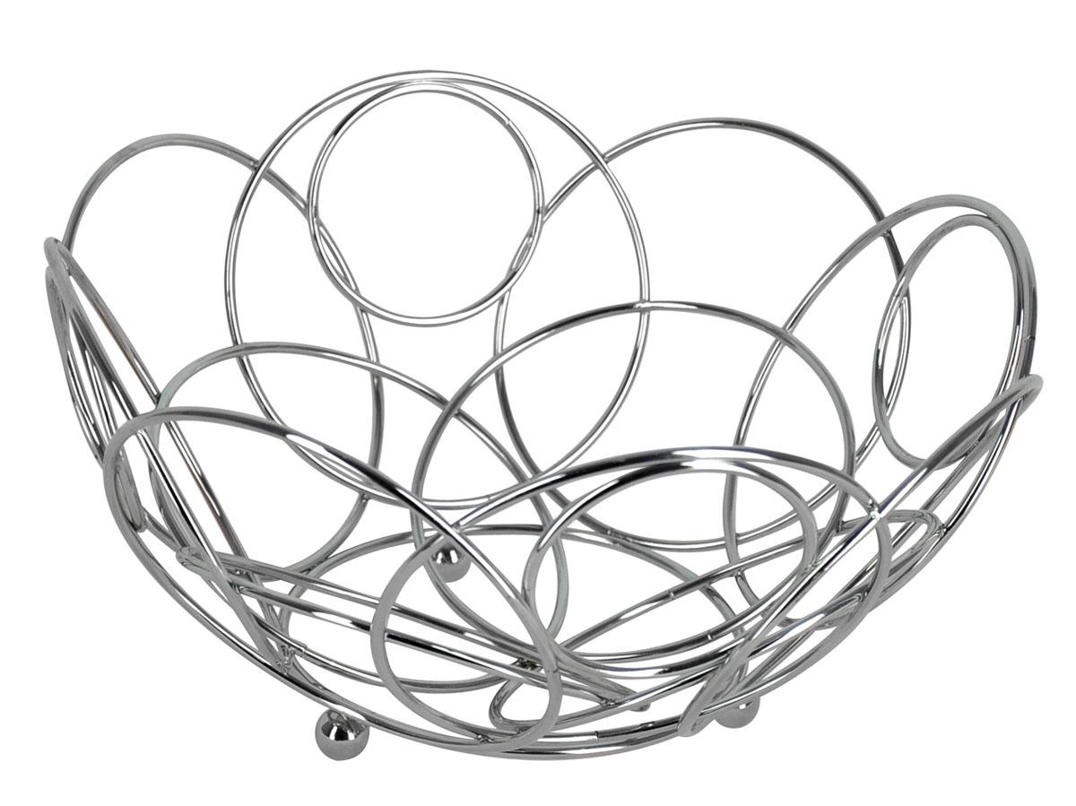 Фруктовница круглая Trina. 93-TR-01-1493-TR-01-14Современный дизайн фруктовницы Trina, изготовленной из хромированной стали, идеально впишется в интерьер современной кухни. Фруктовница выполнена в виде чаши, стенки которой состоят из металлических кругов разных размеров. Фруктовница имеет ножки с металлическими шариками - для устойчивости.