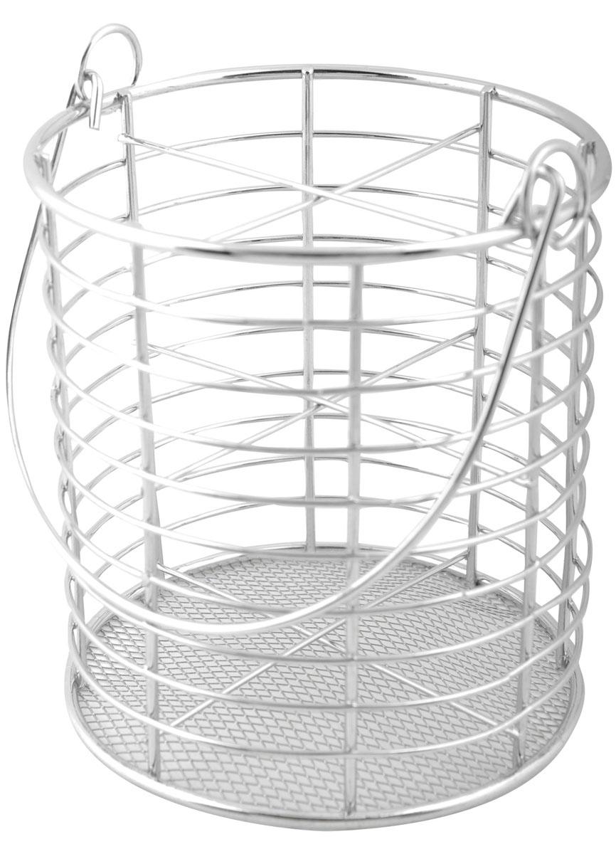 Подставка для столовых приборов Trina. 93-TR-05-0493-TR-05-04Подставка для столовых приборов Linea Trina представляет собой каркас из стального хромированного прутка со стальной сеткой в нижней части. Разделенная на четыре секции, данная подставка позволяет аккуратно хранить основные типы столовых приборов: ножи, ложки, вилки, чайные ложки. Подставка снабжена удобной подвижной ручкой. Вы можете установить ее в любом удобном месте. Такая подставка для столовых приборов станет полезным аксессуаром в домашнем быту и идеально впишется в интерьер современной кухни. Характеристики: Материал: сталь. Высота подставки: 14 см. Диаметр подставки: 12 см. Размер упаковки: 15 см х 13 см х 13 см. Производитель: Италия. Артикул: 93-TR-05-04.