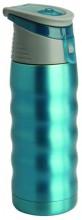 Термос Regent Inox Fitness, цвет: голубой, 0,48 л. 93-TE-FI-1-480B93-TE-FI-1-480BТермос Regent Inox Fitness изготовлен из высококачественной пищевой нержавеющей стали с глянцевой и матовой полировкой, что обеспечивает высокую надежность и долговечность. Современная технология с вакуумной изоляцией и металлическая колба, способствуют более длительному сохранению тепла. Через 12 часов температура жидкости в термосе станет равна 35-45°С при условии, что температура окружающей среды не ниже 18°С, а температура жидкости при заполнении не ниже +99°С. Regent Inox Fitness оснащен пластиковой пробкой с отверстием под трубочку, благодаря этому можно пить на ходу. Термос удобен в использовании дома, на даче, в турпоходе и на рыбалке. Пригодится на работе, в офисе и командировке, экономит электроэнергию и время.