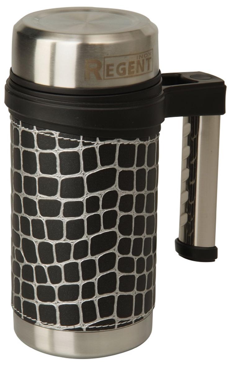 Кружка-термос Regent Inox Gotto, цвет: серый, черный, 0,5 л93-TE-GO-3-500.3Кружка-термос Regent Inox Gotto удобна для использования в быту, походе и путешествиях. Прекрасно сохраняет температуру напитка. Универсальна, для горячих и холодных напитков. Защищает руки от ожогов, внешняя стенка не нагревается. Компактна, удобна в использовании. Полированная поверхность легко моется. Надежна и долговечна. Экологически безопасна.