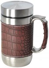 Кружка-термос Regent Inox Gotto, цвет: коричневый, 0,52 л93-TE-GO-1-520.1Кружка-термос Regent Inox Gotto удобна для использования в быту, походе и путешествиях. Прекрасно сохраняет температуру напитка. Универсальна, для горячих и холодных напитков. Защищает руки от ожогов, внешняя стенка не нагревается. Компактна, удобна в использовании. Полированная поверхность легко моется. Надежна и долговечна. Экологически безопасна. В комплекте ситечко для заваривания.