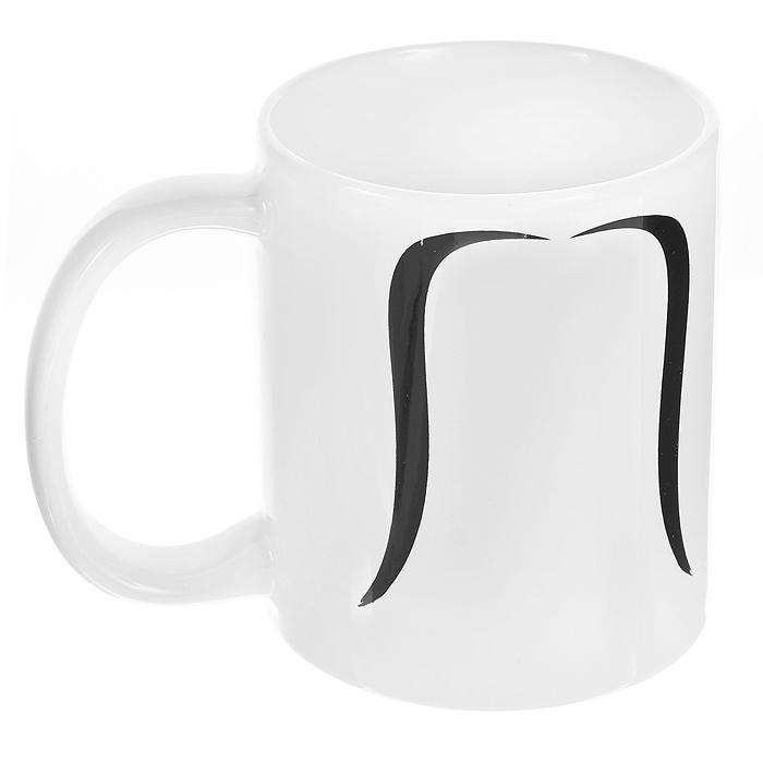 Кружка керамическая Усы. Сэнсэй94837Керамическая кружка Усы. Сэнсей станет отличным подарком для человека, ценящего забавные и практичные подарки. Кружка белого цвета оформлена изображением усов. Такой подарок станет не только приятным, но и практичным сувениром: кружка станет незаменимым атрибутом чаепития, а оригинальный дизайн вызовет улыбку.