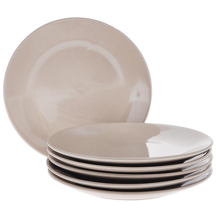 Набор тарелок, цвет: бежевый, 270 мл, 6 штКт CG-911A-BGНабор включает в себя шесть тарелок, выполненных из высококачественной керамики. Лаконичность оформления набора придется по вкусу и ценителям классики, и тем, кто предпочитает утонченность и изысканность. Тарелки являются экологически безопасными, так как не содержат кадмия и свинца.
