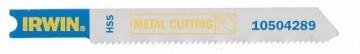 Набор пилок для электролобзика по металлу Irwin, 5 шт. 1050429410504294Набор пилок для электролобзика по металлу Irwin с хвостовиком типа Bosch U118G. HSS вальцованные зубья для большего срока службы и быстрой работы по металлу.