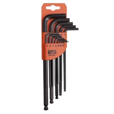 Набор шестигранников Bahco(дюйм), 13 штBE-9785Набор шестигранников Bahco(дюйм). Инструменты выполнены из хром-ванадиевой стали. Шарообразный конец длинного плеча позволяет при монтаже наклонять ключ даже на 30 градусов.
