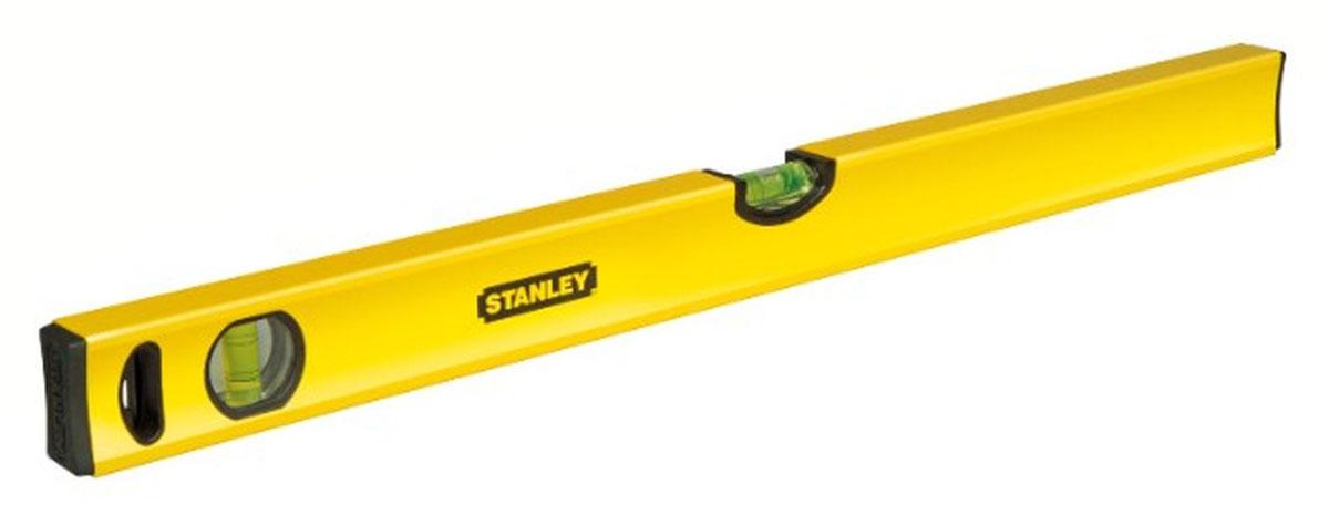 Уровень Stanley Classic, 3 капсулы, цвет: желтый, 100 см1-43-105Профессиональный строительный уровень Stanley используется при необходимости контроля горизонтальных и вертикальных плоскостей. Усиленный, противоударный, алюминиевый корпус уровня облегчает с ним работу.