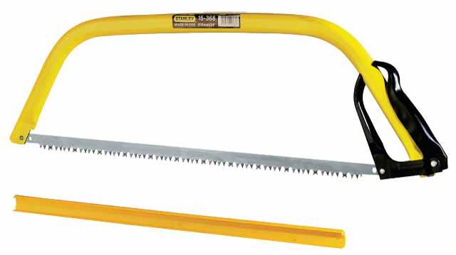 Пила лучковая Stanley, 76 см. 15-4031-15-403Пила лучковая Stanley применяется для резки сучков деревьев. Обладает стальной трубчатой рамой, которая придает высокую прочность инструменту.