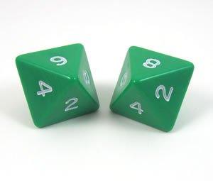 Набор костей игральных Простые, D8, 16 мм, 2 шт, цвет: в ассортименте2547Набор состоит из двух игральных костей D8. Подходит для ролевых настольных игр.