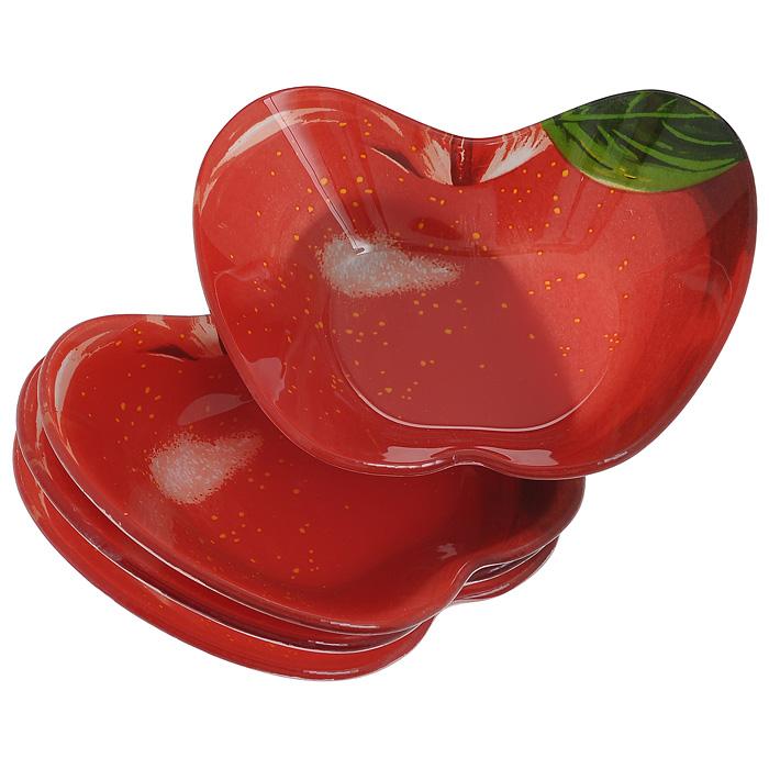 Набор розеток Lillo, 4 шт. 213368213368Набор Lillo состоит из 4 розеток, изготовленных из высококачественного стекла. Предметы набора выполнены в виде красных яблок. Красочность оформления придется по вкусу и ценителям классики, и тем, кто предпочитает утонченность и изящность. Такой набор станет незаменимым помощником в сервировке различных блюд, а также джемов, варенья и меда. Характеристики: Материал: стекло. Размер розетки: 13,5 см х 10 см х 3 см. Размер упаковки: 15,5 см х 12,5 см х 6 см. Артикул: 213368.