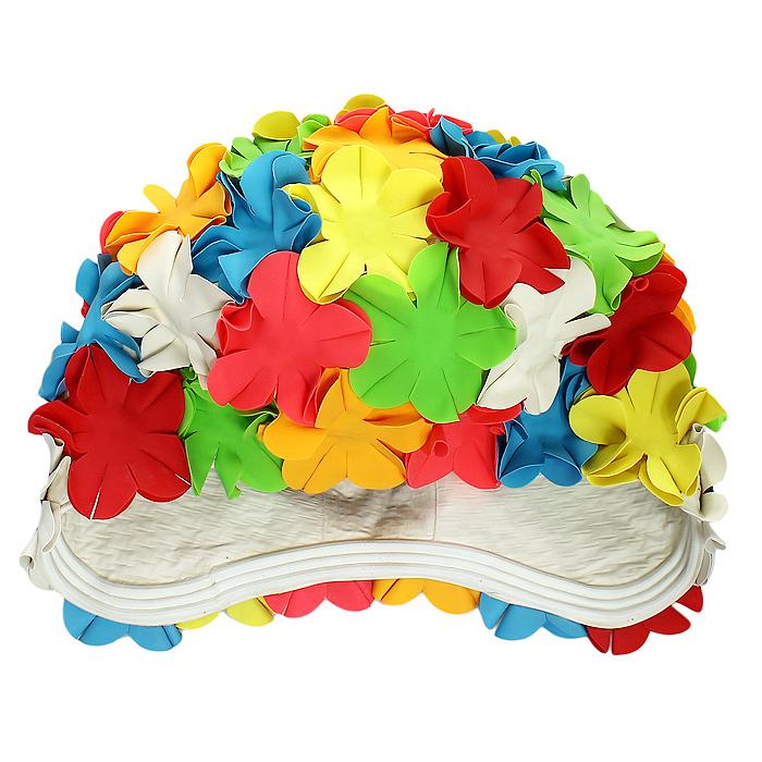 Шапочка для плавания MadWave Flower, женскаяM0516 01 0 00WЯркая латексная шапочка для плавания MadWave Flower станет лучшим дополнением к любому купальному костюму. Она плотно облегает голову и защищает волосы от намокания при плавании, не доставляя при этом никакого дискомфорта. Шапочка глубоко закрывает уши, ее поверхность оформлена объемными цветами. Характеристики: Материал: резина, латекс. Обхват шапочки (в нерастянутом виде): 51 см. Артикул: M0516 01 0 00W.