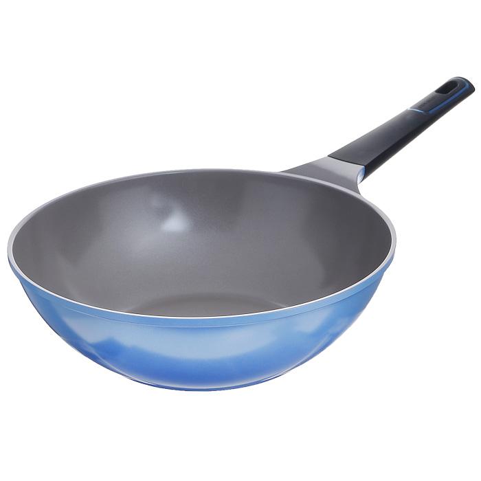 """Сотейник Frybest """"Azure"""", цвет: голубой, серый. Диаметр 30 cм"""