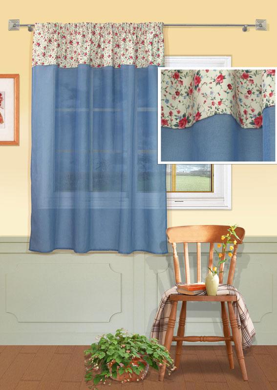 Штора Kauffort Номад, на ленте, цвет: голубой, высота 165 смUN111023640Штора Kauffort Номад выполнена из качественного полиэстера. Верхняя часть шторы выполнена из плотного материала молочного цвета с цветочным рисунком. Нижняя часть - из полупрозрачной сетчатой ткани голубого цвета. Качественный материал, оригинальный дизайн и приятная цветовая гамма привлекут к себе внимание и органично впишутся в интерьер помещения. Изделие оснащено шторной лентой для красивой сборки. Штора Kauffort Номад великолепно украсит любое окно. Характеристики: Материал: 100% полиэстер. Цвет: голубой. Размер упаковки: 37 см х 27 см х 3 см. Артикул: UN111023640. В комплект входит: Штора - 1 шт. Размер (Ш х В): 146 см х 165 см (отклонение размера ~ 1,5%).