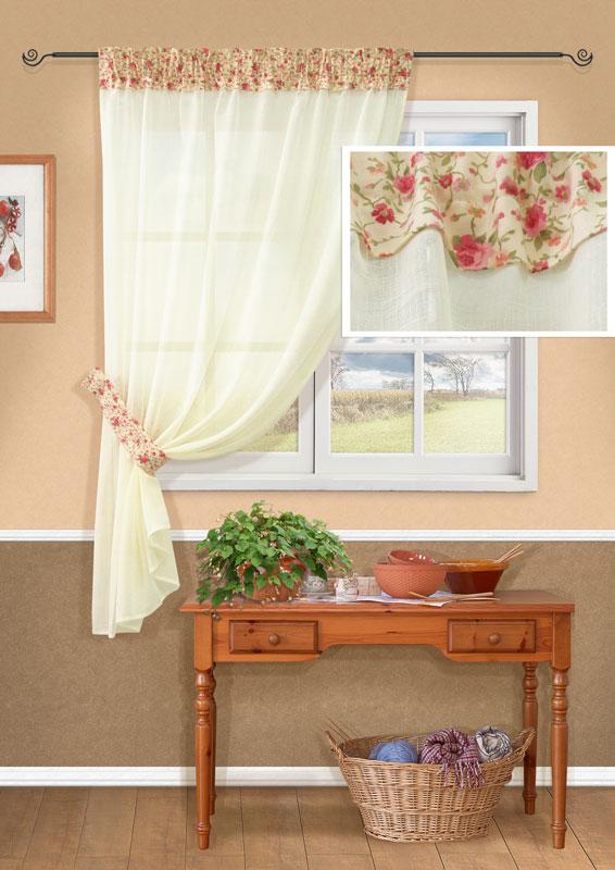 Штора Kauffort Мантис, на ленте, цвет: бежевый, высота 170 смUN111035615Штора Kauffort Мантис выполнена из полиэстера. Основная часть шторы изготовлена из полотна бежевого цвета с полупрозрачным сетчатым плетением. Верхняя часть выполнена из плотного непрозрачного полиэстера кремового цвета с цветочным рисунком. Для более изящного расположения шторы на окне прилагается подхват. Качественный материал, оригинальный дизайн и приятная цветовая гамма привлекут к себе внимание и органично впишутся в интерьер помещения. Изделие оснащено шторной лентой для красивой сборки. Штора Kauffort Мантис великолепно украсит любое окно. Характеристики: Материал: 100% полиэстер. Цвет: бежевый. Размер упаковки: 37 см х 27 см х 3 см. Артикул: UN111035615. В комплект входит: Штора - 1 шт. Размер (Ш х В): 150 см х 170 см (отклонение размера ~1,5%). Подхват - 1 шт. Размер (Ш х В): 8 см х 70 см. УВАЖАЕМЫЕ КЛИЕНТЫ! Обращаем ваше внимание, что в комплект входит одна штора. Вторая...