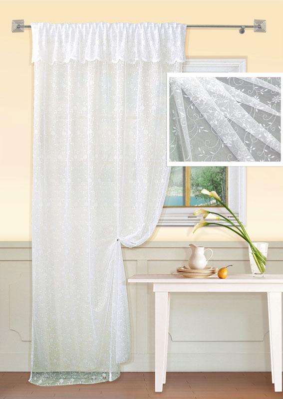 Штора Kauffort Люмен, на ленте, цвет: белый, высота 265 смUN111063110Воздушная штора Kauffort Люмен выполнена из ажурной ткани белого цвета с цветочным узором. Верх шторы декорирован широким воланом. Качественный материал, оригинальный дизайн и приятная цветовая гамма привлекут к себе внимание и органично впишутся в интерьер помещения. Изделие оснащено шторной лентой для красивой сборки. Штора Kauffort Люмен великолепно украсит любое окно. Характеристики: Материал: 100% полиэстер. Цвет: белый. Размер упаковки: 37 см х 27 см х 3 см. Артикул: UN111063110. В комплект входит: Штора - 1 шт. Размер (Ш х В): 150 см х 265 см (отклонение размера ~ 1,5%). Уважаемые клиенты! Обращаем ваше внимание на тот факт, что подхват, изображенный на фотографии, в комплект не входит.