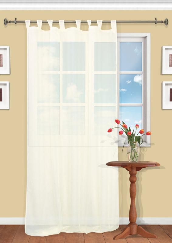 Штора Kauffort Анастасия, на петлях, цвет: шампань, высота 290 смUN111400115Воздушная штора Kauffort Анастасия, выполненная из полупрозрачной вуали цвета шампанского, станет великолепным украшением любого окна. Тонкое плетение и нежная цветовая гамма привлекут к себе внимание и органично впишутся в интерьер помещения. Штора оснащена петлями для крепления на круглый карниз и шторной лентой для красивой сборки.