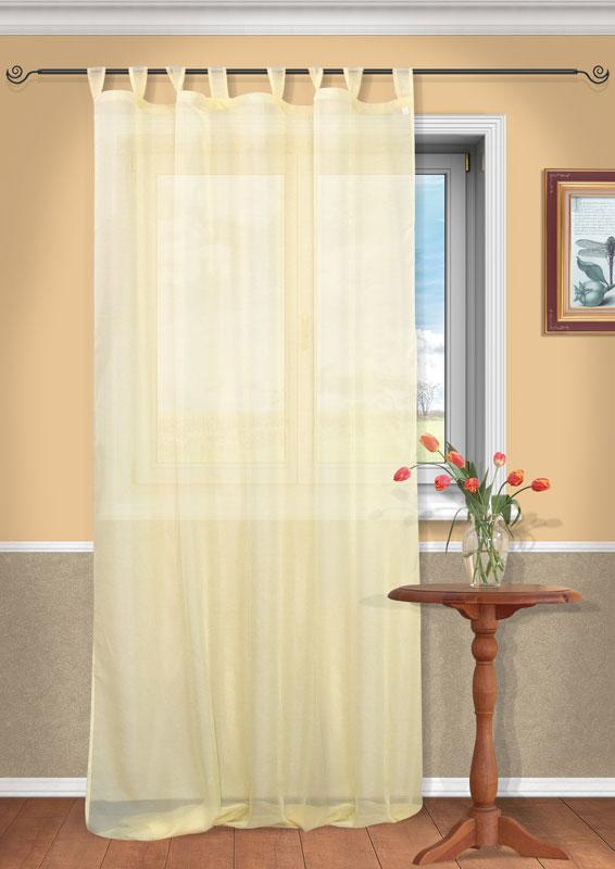 Штора Kauffort Анастасия, на петлях, цвет: кремовый, высота 290 смUN111400150Воздушная штора Kauffort Анастасия, выполненная из полупрозрачной вуали кремового цвета, станет великолепным украшением любого окна. Тонкое плетение и нежная цветовая гамма привлекут к себе внимание и органично впишутся в интерьер помещения. Штора оснащена петлями для крепления на круглый карниз и шторной лентой для красивой сборки.