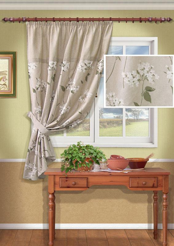 Штора Kauffort Мельба, на ленте, цвет: серый, высота 170 смUN111452680Штора Kauffort Мельба выполнена из качественного материала, изготовленного из хлопка и полиэстера. Полотно серого цвета декорировано изящным рисунком в виде белых цветов. Для более изящного расположения шторы на окне прилагается подхват. Качественный материал, оригинальный дизайн и приятная цветовая гамма привлекут к себе внимание и органично впишутся в интерьер помещения. Штора оснащена шторной лентой для красивой сборки. Штора Kauffort Мельба станет великолепным украшением любого окна. Характеристики: Материал: 50% полиэстер, 50% хлопок. Цвет: серый. Размер упаковки: 37 см х 27 см х 4 см. Артикул: UN111452680. В комплект входит: Штора - 1 шт. Размер (Ш х В): 140 см х 170 см (отклонение размера ~1,5%). Подхват - 1 шт. Размер (Ш х В): 8 см х 63 см.