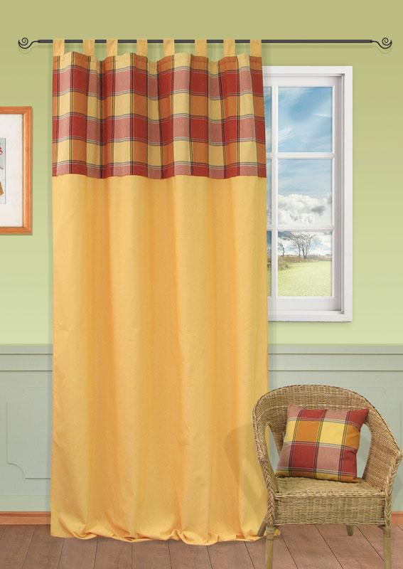 Штора Kauffort Дублин, на петлях, цвет: желтый, бордовый, коричневый, зеленый, высота 287 смUN111973670Штора Kauffort Дублин выполнена из плотного текстильного материала, состоящего из хлопка, полиэстера и акрила. В верхней части штора украшена рисунком в крупную шотландскую клетку. Качественный материал, оригинальный дизайн и контрастная цветовая гамма привлекут к себе внимание и органично впишутся в интерьер помещения. Крепление на петлях. Штора дополнительно оснащена шторной лентой для красивой сборки. Штора Kauffort Дублин великолепно украсит любое окно. Характеристики: Материал: 32% хлопок, 38% полиэстер, 30% акрил. Цвет: желтый, бордовый, коричневый, зеленый. Размер упаковки: 40 см х 27 см х 2 см. Артикул: UN111973670. В комплект входит: Штора - 1 шт. Размер (Ш х В): 149 см х 287 см (отклонение размера ~1,5%).