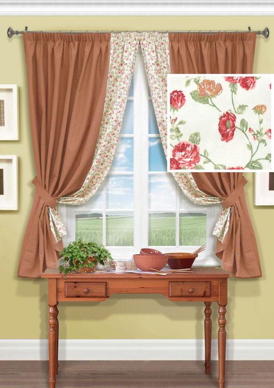 Комплект штор Kauffort Гардарики, на ленте, цвет: оранжевый, высота 165 смUN123133135Комплект Kauffort Гардарики состоит из двух штор и двух подхватов. Предметы комплекта выполнены из качественного материала, состоящего из полиэстера и хлопка. Полотно штор выполнено из плотной ткани оранжевого цвета и декорировано вставкой с цветочным рисунком. Качественный материал, оригинальный дизайн и приятная цветовая гамма привлекут к себе внимание и органично впишутся в интерьер помещения. Шторы оснащены лентой для красивой сборки. Комплект штор Kauffort Гардарики станет великолепным украшением любого окна.