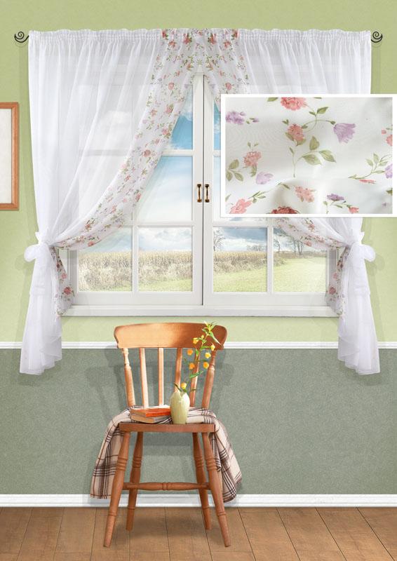 Комплект штор Kauffort Розанна, на ленте, цвет: белый, высота 170 смUN123871110Комплект Kauffort Розанна состоит из двух штор и двух подхватов. Полотно штор выполнено из легкого полиэстера белого цвета и декорировано вставкой из белого полиэстера с цветочным рисунком. Подхваты выполнены из легкого полиэстера белого цвета. Качественный материал, оригинальный дизайн и приятная цветовая гамма привлекут к себе внимание и органично впишутся в интерьер помещения. Шторы оснащены лентой для красивой сборки. Комплект штор Kauffort Розанна станет великолепным украшением любого окна.