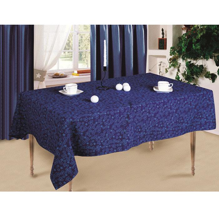 Скатерть Синие цветы, 145 x 150 смСПСЦ-145-150Скатерть Синие цветы выполнена из габардина синего цвета и оформлена цветочным рисунком. Такая скатерть очень прочная, легкая и не мнется. Использование такой скатерти сделает застолье более торжественным, поднимет настроение гостей и приятно удивит их вашим изысканным вкусом. Также вы можете использовать эту скатерть для повседневной трапезы, превратив каждый прием пищи в волшебный праздник. Характеристики: Материал: габардин (100% полиэстер). Размер скатерти: 145 см х 150 см. Артикул: СПСЦ-145-150.