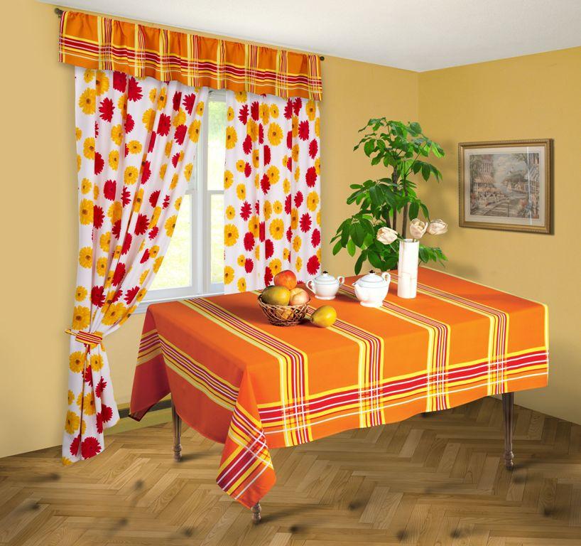 Скатерть Герберы, цвет: оранжевый, 145 x 180 смСПГ-145-180Яркая скатерть Герберы выполнена из габардина оранжевого цвета в полоску. Такая скатерть очень прочная, легкая и не мнется. Использование скатерти сделает застолье более торжественным, поднимет настроение гостей и приятно удивит их вашим изысканным вкусом. Также вы можете использовать эту скатерть для повседневной трапезы, превратив каждый прием пищи в волшебный праздник. Максимальная температура при стирке - 30°, изделие нельзя отбеливать. Характеристики: Материал: габардин (100% п/э). Цвет: оранжевый. Размер скатерти: 145 см х 180 см. Размер упаковки: 26 см х 34 см х 3 см. Артикул: СПГ-145-180.