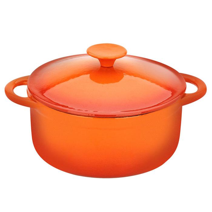 Кастрюля Vitesse Аngie, цвет: оранжевый, 2,8 л. VS-1581VS-1581Кастрюля Vitesse Angie идеально подходит для приготовления вкусных тушеных блюд. Кастрюля изготовлена из высококачественного чугуна. Толстое дно хорошо проводит тепло, а чугунная крышка с цветным эмалевым покрытием сохраняет ароматы. Эмалированная внешняя поверхность оранжевого цвета и внутренняя светло-бежевого цвета, придают кастрюле нотки благородности и изысканности. Ручки кастрюли - цельнолитые, что обеспечивает наибольшую надежность и долговечность. Известно, что пища, приготовленная в чугунной посуде, сохраняет свои вкусовые качества, и благодаря экологической чистоте материала, не может нанести вред здоровью человека. Долговечность - еще одно преимущество чугунной посуды. Приобретая чугунную кастрюлю Angie, вы можете быть уверены, что она прослужит вашей семье достаточно долгий срок. Кастрюля подходит для всех типов плит. В комплекте к кастрюле дополнительно прилагаются две прихватки-варежки!