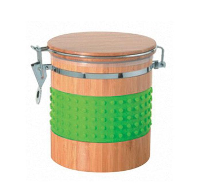 Контейнер бамбуковый Murmure de Bambou, с силиконовыми вставками, цвет: зеленый, 13,6 x 17,2 x 14,8 смCA19315B1N1Контейнер великолепно подходит для хранения сухих и сыпучих продуктов. Элегантная комбинация высококачественных материалов бамбука и силикона. Яркий и стильный дизайн для украшения вашей кухни.