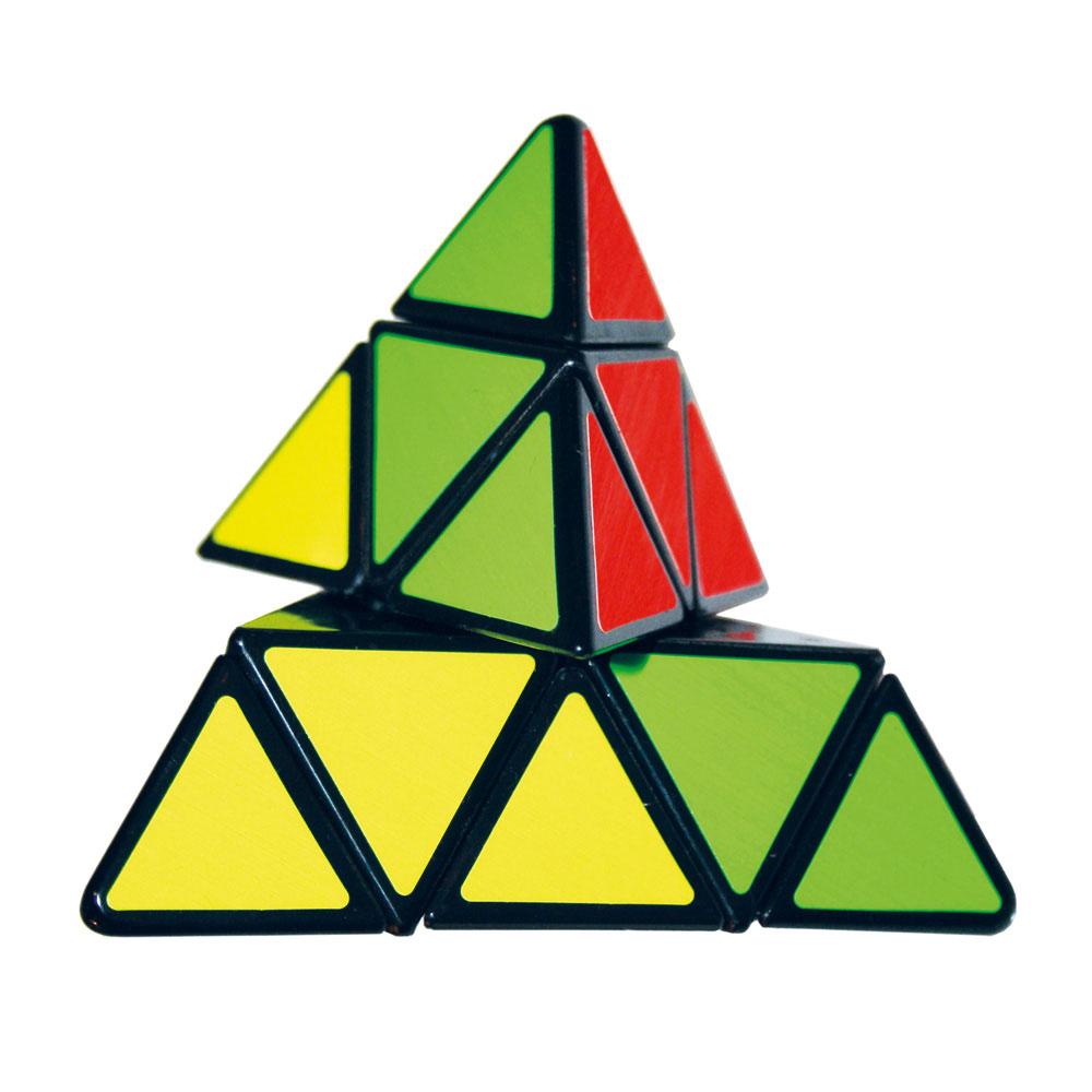 Головоломка Пирамидка Mefferts PyraminxpyraminxГоловоломка Пирамидка Mefferts Pyraminx - это уникальная занимательная игрушка, которая не позволит вам скучать! Известная механическая головоломка с четырьмя сторонами разного цвета является предшественником кубика Рубика. Пирамидка представляет собой геометрическое тело тетраэдр. Как и кубик Рубика, она состоит из элементов, которые при повороте могут перемещаться со стороны на сторону, только роль кубиков здесь выполняют маленькие тетраэдры, из которых и сложен этот большой тетраэдр. Пирамидка похожа на кубика Рубика, однако значительно проще - меньше миллиона комбинаций. Каждый поворот - это вращение элементов вокруг одной из четырех осей головоломки на 120 градусов. Посчитано, что из любого состояния Пирамидку можно собрать всего 12 поворотами (в теории!). В реальности же, разобравшись и изучив схемы сборки, вполне реально научиться собирать Пирамидку не более чем за 20 поворотов. Не обязательно собирать Пирамидку по цветам, можно создавать...