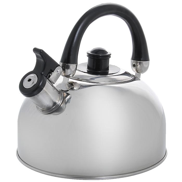 Чайник Appetite со свистком, 2 лMK-2502Чайник Appetite изготовлен из высококачественной нержавеющей стали с 3-х слойным термоаккумулирующим дном. Нержавеющая сталь обладает высокой устойчивостью к коррозии, не вступает в реакцию с холодными и горячими продуктами и полностью сохраняет их вкусовые качества. Особая конструкция дна способствует высокой теплопроводности и равномерному распределению тепла. Чайник оснащен черной пластиковой ручкой, которую при желании можно опустить. Носик чайника имеет откидной свисток, звуковой сигнал которого подскажет, когда закипит вода. Чайник Appetite пригоден для использования на всех видах плит, кроме индукционных. Можно мыть в посудомоечной машине. Характеристики: Материал: нержавеющая сталь, пластик. Объем: 2 л. Диаметр основания чайника: 19 см. Высота чайника (с учетом ручки): 19 см. Высота чайника (без учета ручки): 10 см. Размер упаковки: 19 см х 19 см х 15 см. Артикул: MK-2502.