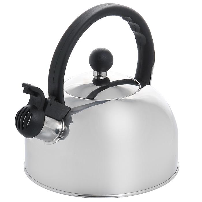 Чайник Appetite со свистком, 1,5 лHSK-073Чайник Appetite изготовлен из высококачественной нержавеющей стали с 3-х слойным термоаккумулирующим дном. Нержавеющая сталь обладает высокой устойчивостью к коррозии, не вступает в реакцию с холодными и горячими продуктами и полностью сохраняет их вкусовые качества. Особая конструкция дна способствует высокой теплопроводности и равномерному распределению тепла. Чайник оснащен черной пластиковой удобной ручкой. Носик чайника имеет откидной свисток, звуковой сигнал которого подскажет, когда закипит вода. Чайник Appetite пригоден для использования на всех видах плит, кроме индукционных. Можно мыть в посудомоечной машине. Характеристики: Материал: нержавеющая сталь, пластик. Объем: 1,5 л. Диаметр основания чайника: 18 см. Высота чайника (с учетом ручки): 20 см. Размер упаковки: 18,5 см х 20 см х 18,5 см. Артикул: HSK-073.