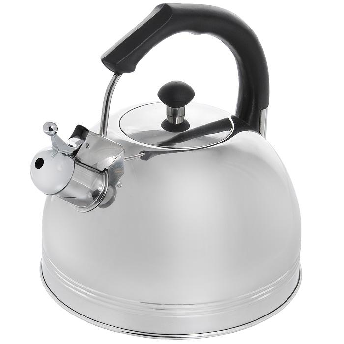 Чайник Appetite со свистком, 3,5 л. HSK-H003BHSK-H003BЧайник Appetite изготовлен из высококачественной нержавеющей стали. Нержавеющая сталь обладает высокой устойчивостью к коррозии, не вступает в реакцию с холодными и горячими продуктами и полностью сохраняет их вкусовые качества. Особая конструкция дна способствует высокой теплопроводности и равномерному распределению тепла. Чайник оснащен черной пластиковой удобной ручкой. Носик чайника имеет откидной свисток, звуковой сигнал которого подскажет, когда закипит вода. Чайник Appetite пригоден для использования на всех видах плит, кроме индукционных. Можно мыть в посудомоечной машине. Характеристики: Материал: нержавеющая сталь, пластик. Объем: 3,5 л. Диаметр основания чайника: 22 см. Высота чайника (с учетом ручки): 24 см. Размер упаковки: 22,5 см х 25 см х 22,5 см. Артикул: HSK-H003B.