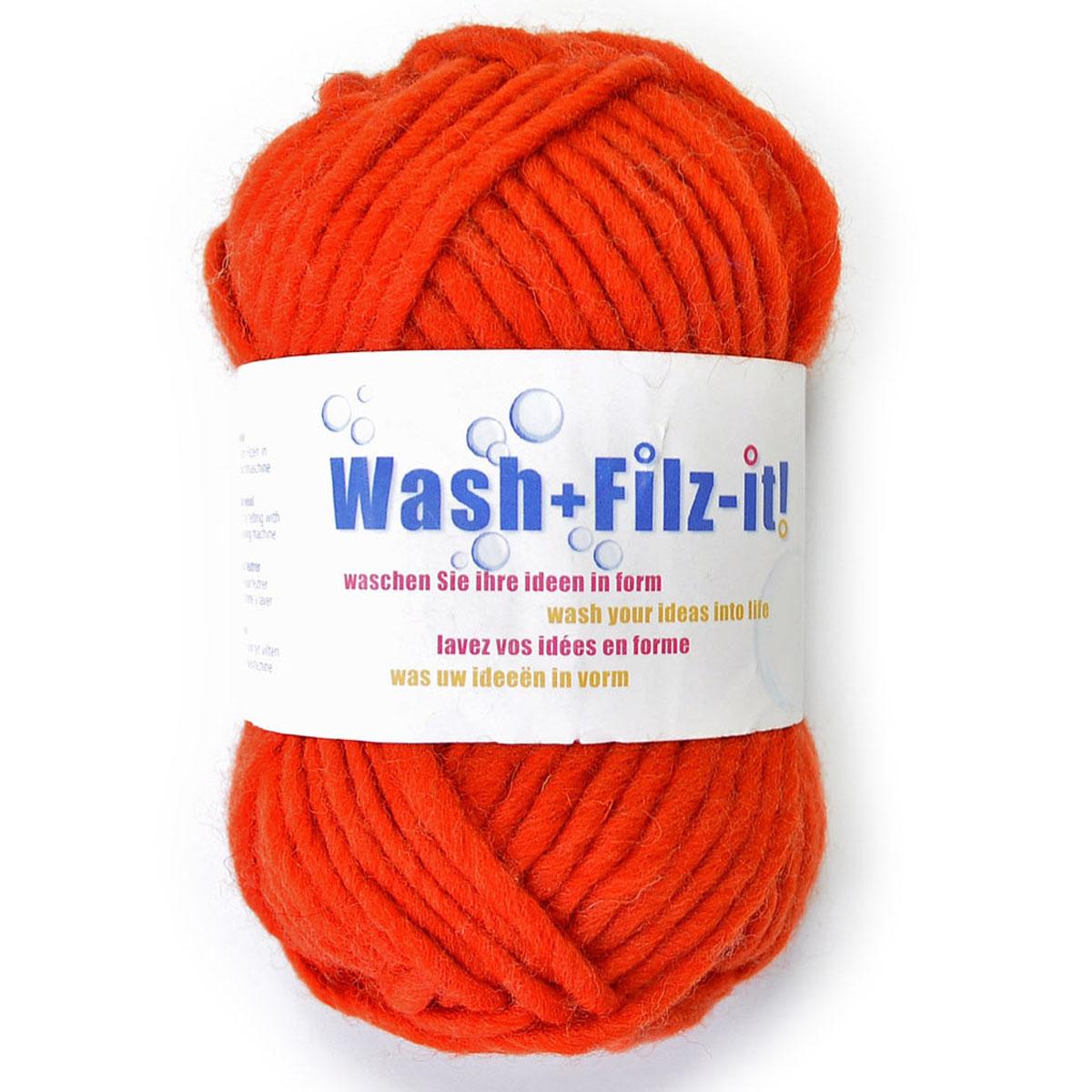 Пряжа для сваливания в стиральной машине Wash+Filz-it, цвет: sienna (сиена, оранжевый) (00005), 50 м, 50 г9812942-00005Специальная пряжа Wash+Filz-it, выполненная из натуральной шерсти, предназначена для вязания на спицах и дальнейшего сваливания в стиральной машине. Придайте вашим идеям форму! С этой пряжей очень легко работать - свяжите и выстирайте в стиральной машине при температуре 60°С. Внимание! Ваше связанное изделие после стирки уменьшится на 30%. Валяние шерсти - это особая техника рукоделия, в процессе которой из шерсти для валяния создается рисунок на ткани или войлоке, объемные игрушки, панно, декоративные элементы, предметы одежды или аксессуары. Только натуральная шерсть обладает способностью сваливаться или свойлачиваться.