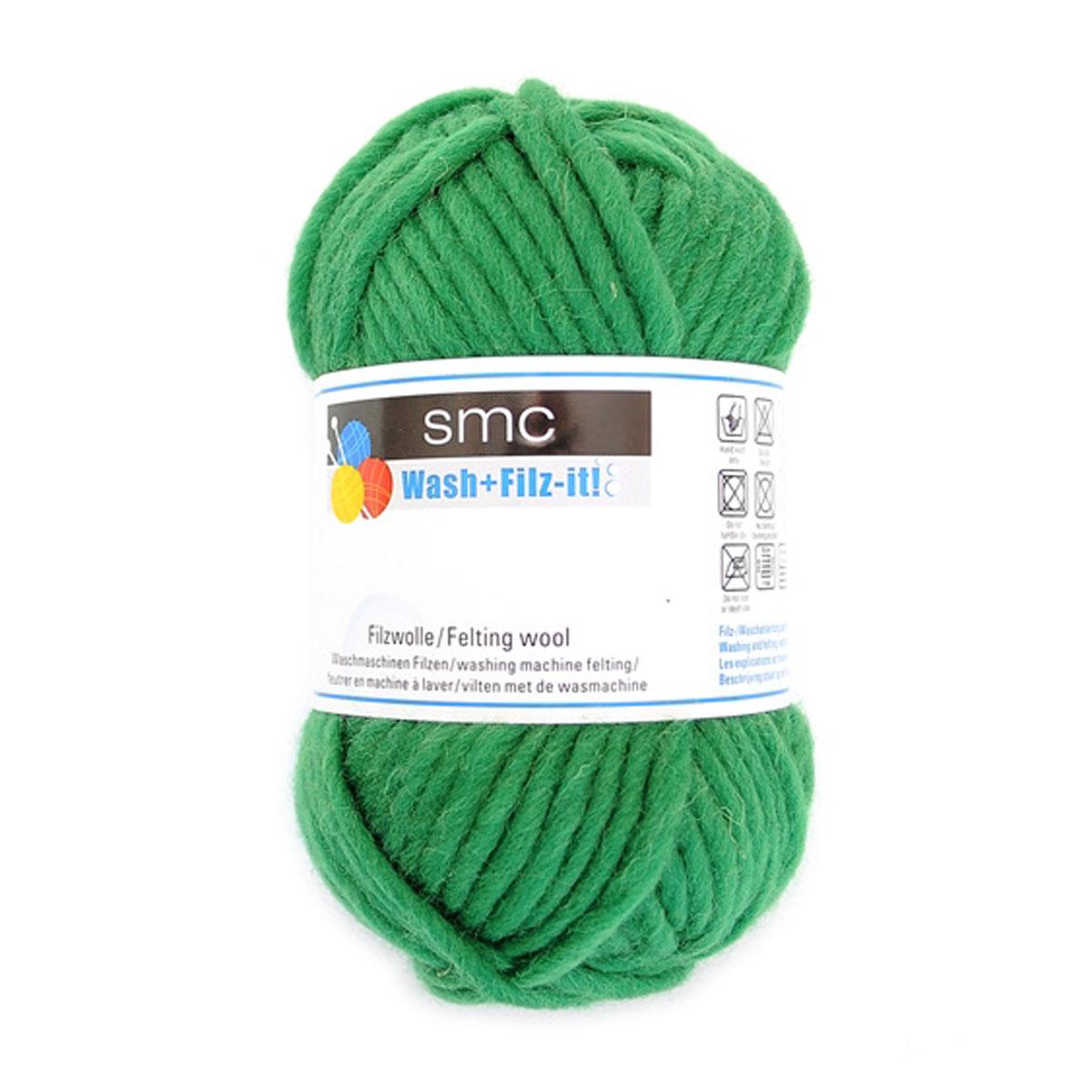 Пряжа для сваливания в стиральной машине Wash+Filz-it, цвет: grass green (зеленая трава) (00016), 50 м, 50 г9812942-00016Специальная пряжа Wash+Filz-it, выполненная из натуральной шерсти, предназначена для вязания на спицах и дальнейшего сваливания в стиральной машине. Придайте вашим идеям форму! С этой пряжей очень легко работать - свяжите и выстирайте в стиральной машине при температуре 60°С. Внимание! Ваше связанное изделие после стирки уменьшится на 30%. Валяние шерсти - это особая техника рукоделия, в процессе которой из шерсти для валяния создается рисунок на ткани или войлоке, объемные игрушки, панно, декоративные элементы, предметы одежды или аксессуары. Только натуральная шерсть обладает способностью сваливаться или свойлачиваться.