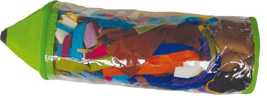 Набор лоскутов De Witte Engel Карандаш, 200 гV69900Набор De Witte Engel Карандаш состоит из лоскутов разного цвета и размера, выполненных из войлока. Набор очень удобен для изготовления мелких поделок или мелких деталей, содержит большой цветовой ассортимент лоскутов. Набор упакован в пластиковую сумку-чехол, выполненную в виде карандаша.