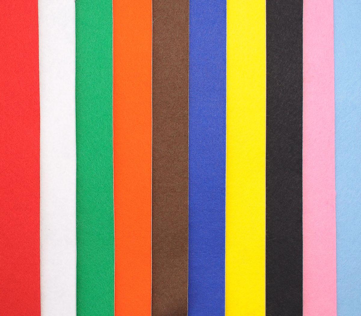 Набор Войлок (фетр)а на клеевой основеVLAPНабор De Witte Engel состоит из 10 войлочных лоскутов на клеевой основе. В набор входят следующие цвета: голубой, розовый, черный, желтый, синий, коричневый, оранжевый, зеленый, белый, красный. Войлок (фетр) на клеевой основе позволит вам делать любые аппликации, даже маленькие детали вам будет удобно вырезать, а потом только убрать защитный слой бумаги и приклеить деталь на нужное место.