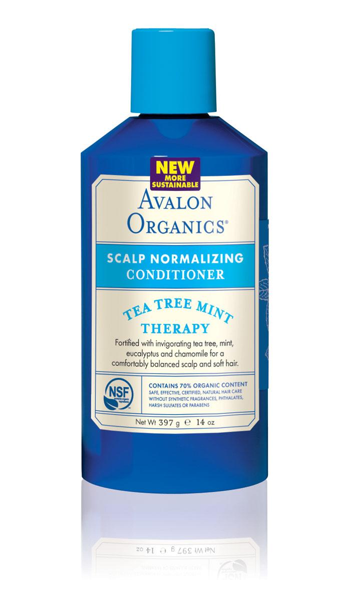 Avalon Organics Нормализующий кондиционер для волос Чайное дерево и мятя, 400 млAV36125Уникальный, органический комплекс масел, экстрактов и протеинов, не утяжеляя волосы, идеально смягчает, увлажняет, герметизирует кутикулу и эффективно восстанавливает структуру секущихся кончиков волос. Оказывает противовоспалительное, антибактериальное и противогрибковое действие, препятствует появлению перхоти и развитию сухой себореи. Характеристики: Объем: 400 мл. Артикул: AV36125. Производитель: США. Товар сертифицирован.