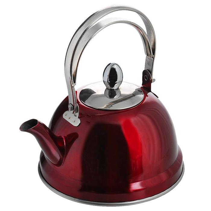 Чайник заварочный Appetite, цвет: красный, 0,7 лTK-006Заварочный чайник Appetite изготовлен из высококачественной нержавеющей стали красного цвета. Внутри чайника установлен сетчатый фильтр, который задерживает чаинки и предотвращает их попадание в чашку. Чайник снабжен удобной ручкой. Чай в таком чайнике дольше остается горячим, а полезные и ароматические вещества полностью сохраняются в напитке. Чайник Appetite пригоден для использования на всех видах плит, кроме индукционных. Можно мыть в посудомоечной машине. Диаметр основания чайника: 14 см. Высота чайника (с учетом ручки): 18 см.