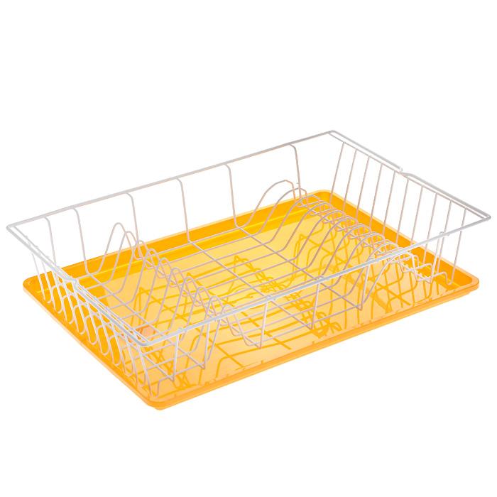 Сушилка для посуды Metaltex Germatex Plus, с поддоном, цвет: белый, желтый, 48 х 30 х 9,5 см32.02.45-514Сушилка Metaltex Germatex Plus, изготовленная из стали, представляет собой решетку с ячейками для посуды. Изделие оснащено пластиковым поддоном для стекания воды. Сушилка Metaltex Germatex Plus не займет много места на вашей кухне. Вы сможете разместить на ней большое количество предметов. Компактные размеры и оригинальный дизайн выделяют эту сушилку из ряда подобных. Размер сушилки: 48 х 30 х 9,5 см. Размер поддона: 45 х 31 х 2 см.
