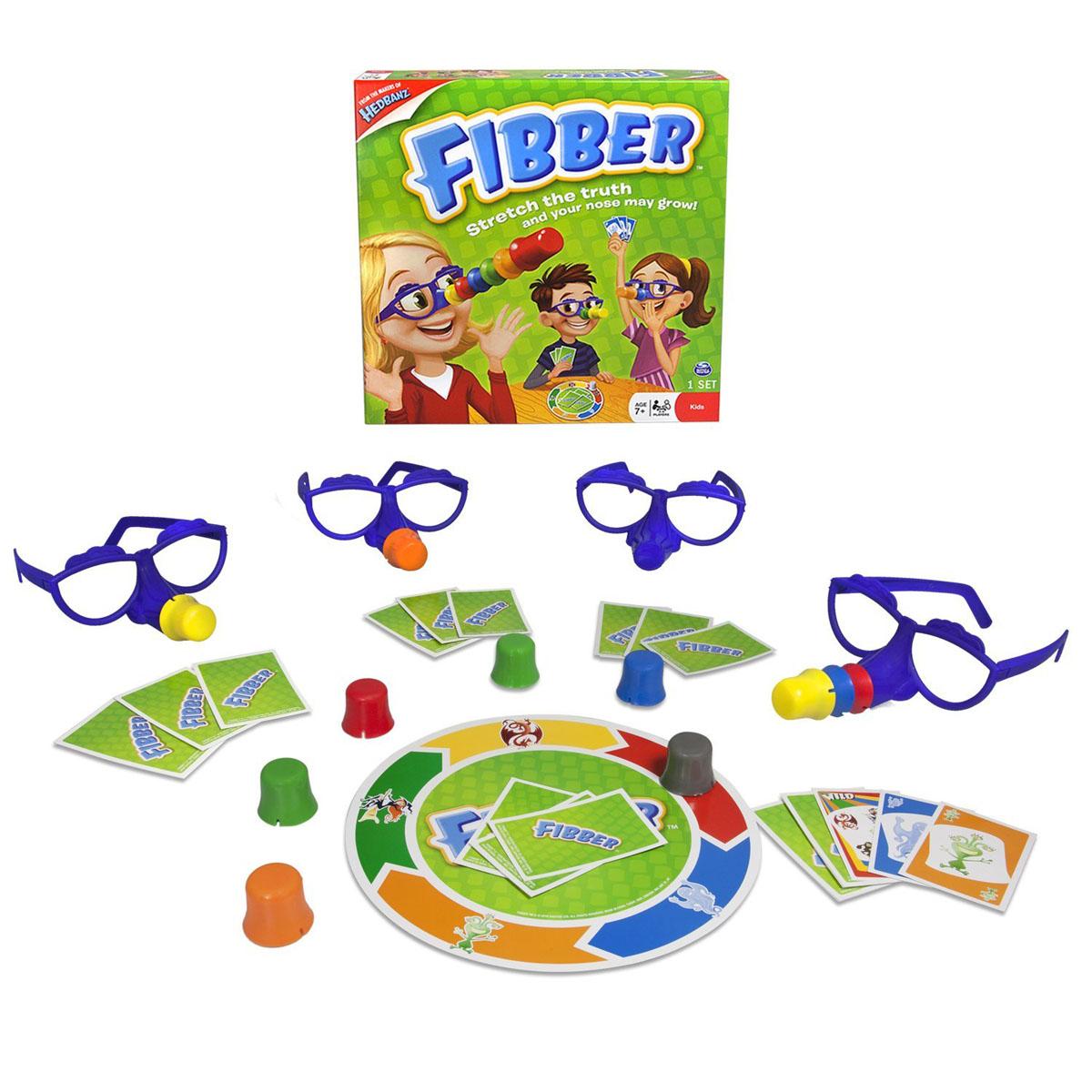 Настольная игра Fibber34545Настольная игра Fibber позволит вашему ребенку весело провести время в кругу друзей или семьи. В переводе с английского Fibber означает врунишка, обманщик. Задача всех игроков поймать Фиббера, если он говорит неправду. Если игрок попался, он надевает на очки нос. Цель игры: стать игроком с самым коротким носом. Перед началом игры все участники надевают очки. В центре стола располагается игровое поле, вокруг него - носы. Карты раздаются поровну всем игрокам. В ходе игры участники двигаются по секторам. В свой ход игрок складывает карты согласно сектору на игровом поле. При этом он может обманывать или говорить правду. Если участник обманывает, и его называют фиббером, он забирает все сыгранные карты и надевает нос. Если говорит правду, и его называют фиббером, то надевает нос и забирает карты обвинивший его игрок. Когда все носы сыграны, время подводить итоги. Побеждает игрок с самым коротким носом. В комплект игры входят: игровое поле, 4 пары очков, 11...