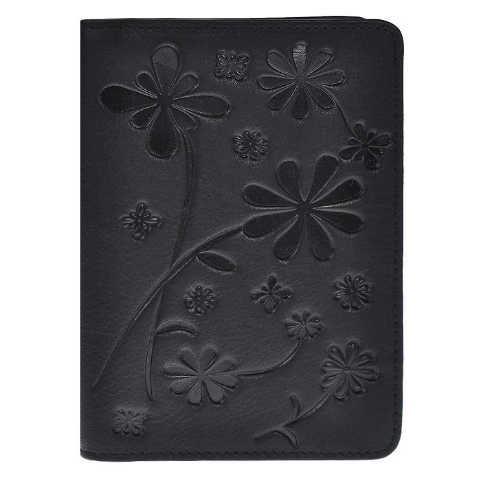 Обложка для паспорта Astra, цвет: черный. O.50.SLO.50.SL черныйОбложка для паспорта Astra выполнена из натуральной кожи черного цвета и оформлена декоративным цветочным тиснением. Обложка не только поможет сохранить внешний вид ваших документов и защитить их от повреждений, но и станет стильным аксессуаром, идеально подходящим вашему образу. Обложка для паспорта стильного дизайна может быть достойным и оригинальным подарком.