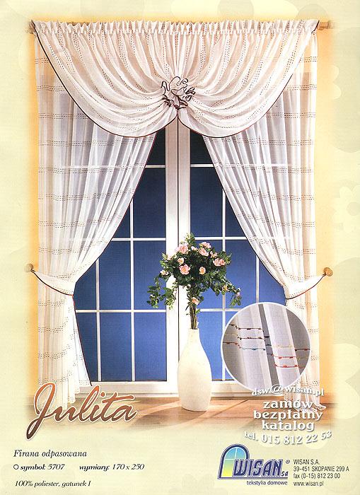 Комплект штор Julita, на ленте, цвет: белый, бордовый, высота 250 см657674Комплект штор Julita, выполненный из легкого полиэстера белого цвета, великолепно украсит любое окно. Комплект состоит из двух штор и ламбрекена. Для более изящного расположения штор прилагаются подхваты. Предметы комплекта украшены атласным кантом бордового цвета и нарядной вышивкой в виде разноцветных полосок. В ламбрекен вшиты шторные ленты для собирания в сборки. Тонкое плетение, оригинальный дизайн и нежная цветовая гамма привлекут к себе внимание и органично впишутся в интерьер комнаты. Все предметы комплекта - на шторной ленте для собирания в сборки. Характеристики: Материал: 100% полиэстер. Цвет: белый, бордовый. Размер упаковки: 38 см х 28 см х 7 см. Артикул: 657315. В комплект входят: Штора - 2 шт. Размер (Ш х В): 170 см х 250 см. Ламбрекен - 1 шт. Размер (Ш х В): 360 см х 160 см. Подхват - 2 шт. Фирма Wisan на польском рынке существует уже более пятидесяти лет и является одной из лучших польских фабрик...