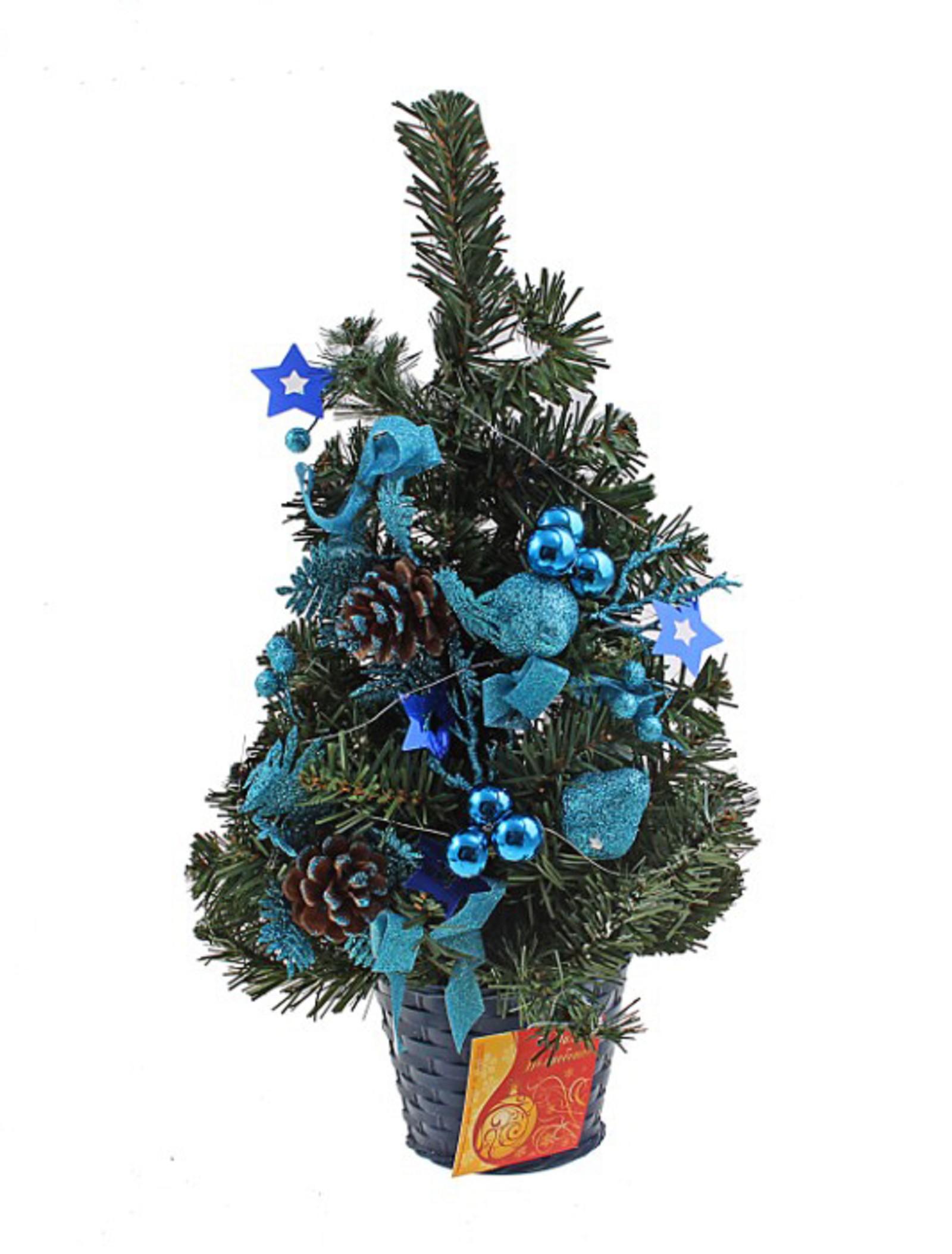Декоративное украшение Новогодняя елочка, настенное, цвет: зеленый, синий, высота 45 см. 705181705181Декоративное украшение, выполненное из пластика - мини-елочка зеленого цвета для оформления интерьера к Новому году. Ее не нужно ни собирать, ни наряжать, зато настроение праздника она создает очень быстро. Елка украшена лентами, шишками и шариками. Елка украсит интерьер вашего дома или офиса к Новому году и создаст теплую и уютную атмосферу праздника. Откройте для себя удивительный мир сказок и грез. Почувствуйте волшебные минуты ожидания праздника, создайте новогоднее настроение вашим дорогим и близким. Характеристики: Материал: пластик, металл, текстиль. Цвет: зеленый, синий. Размер елочки: 25 см х 9 см х 45 см. Артикул: 705181.