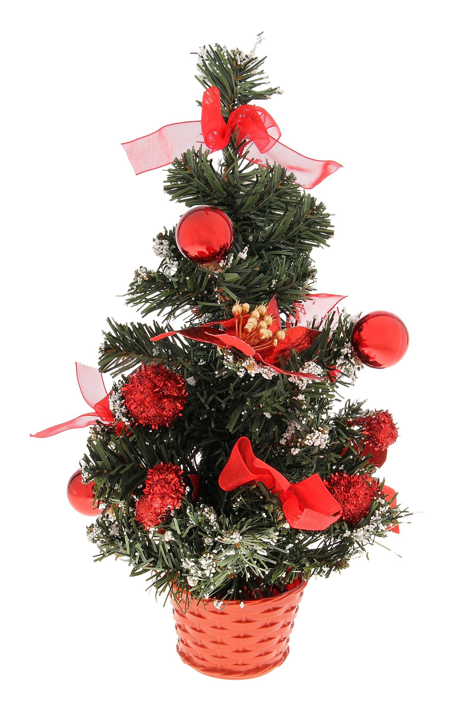 Декоративное украшение Новогодняя елочка. 717973717973Оригинальный дизайн новогодней елки притягивает к себе восторженные взгляды. Елка украшена декоративным снегом, красными лентами, шариками. Елка украсит интерьер вашего дома или офиса к Новому году и создаст теплую и уютную атмосферу праздника. Откройте для себя удивительный мир сказок и грез. Почувствуйте волшебные минуты ожидания праздника, создайте новогоднее настроение вашим дорогим и близким. Характеристики: Материал: пластик. Высота елки: 30 см. Изготовитель: Китай. Артикул: 717973.