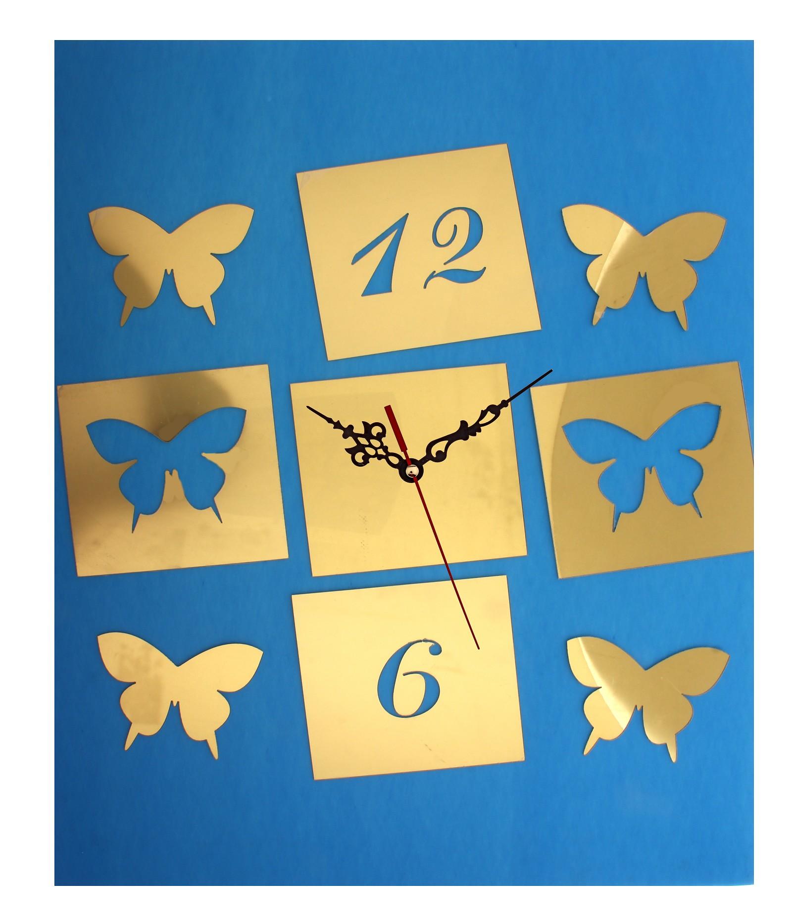Часы-наклейка Бабочки, 60 х 44 см 729553729553Часы-наклейка Бабочки изготовлены из пластика золотистого цвета с глянцевой поверхностью. Часы выполнены в виде круглого основания (циферблат), в которое вставляется часовой механизм со стрелками. Для большего декоративного эффекта к основанию прилагаются дополнительные наклейки в виде бабочек. Если Вы – любитель перестановок или вам приходится часто переезжать, то часы-наклейка многоразового использования – это то, что вам нужно: они не требуют гвоздей в стене и фиксации на одном месте. Легкие и компактные они украсят интерьер и никогда не примелькаются. Характеристики: Материал: пластик. Цвет: золотистый. Диаметр основания: 13 см. Размер композиции: 60 см х 44 см. Длина стрелки: 12 см. Изготовитель: Китай. Артикул: 729553.
