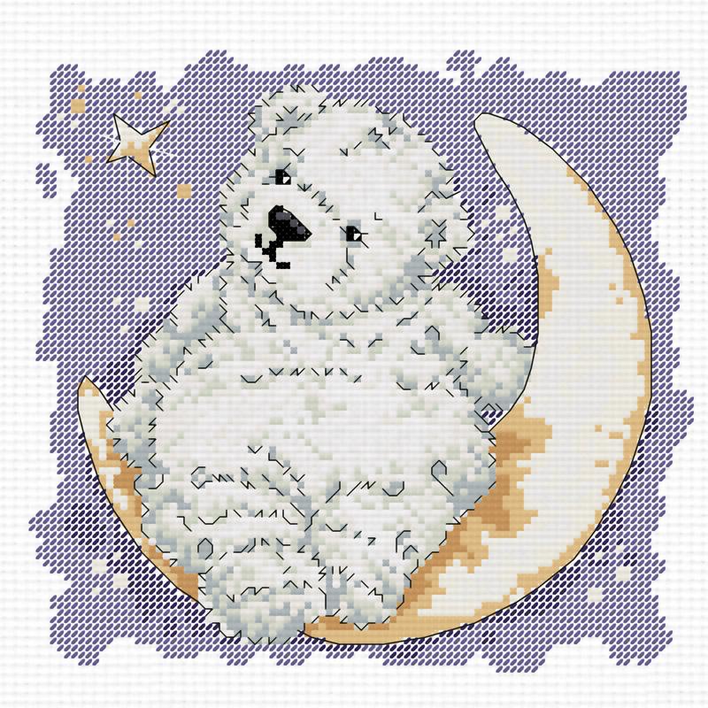 Набор для вышивания крестом Лунный мишка, 28 х 28 см770-14В наборе для вышивания крестом Лунный мишка есть все необходимое для создания роскошной интерьерной картины: хлопковая аппретированная канва Аида-14 с обработанным краем, белого цвета, цветная символьная схема вышивки, 2 иглы, нитки мулине (100% хлопок), инструкция по вышиванию на русском языке. Милый рисунок-вышивка, выполненный в виде изображения симпатичного мишки на полумесяце привлечет к себе внимание и будет потрясающе смотреться в интерьере вашего помещения или детской комнаты. Вышивание крестом отвлечет вас от повседневных забот и превратится в увлекательное занятие! Работа, сделанная своими руками, создаст особый уют и атмосферу в доме и долгие годы будет радовать вас и ваших близких.