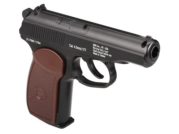 "Gletcher Gletcher ""PM"" пистолет пневматический NBB, CO2, 4,5 мм, цвет: Black (39974)"