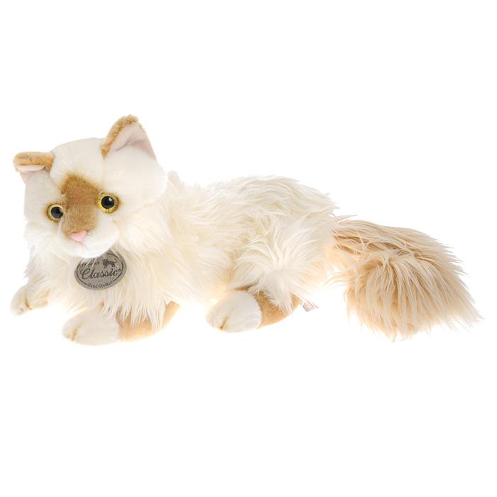 Мягкая игрушка Aurora Персидская кошка, 45 см62-174Мягкая игрушка Персидская кошка, выполненная в виде пушистой кошечки с зачаровывающими глазками, вызовет умиление и улыбку у каждого, кто ее увидит. Удивительно мягкая игрушка принесет радость и подарит своему обладателю мгновения нежных объятий и приятных воспоминаний. Она выполнена из искусственного меха с набивкой из гипоаллергенного синтепона, а глазки кошечки изготовлены из пластика. Мягкие игрушки Aurora просты в уходе, легко стираются и не теряют при этом своего качества. Такая игрушка станет чудесным подарком к любому празднику.