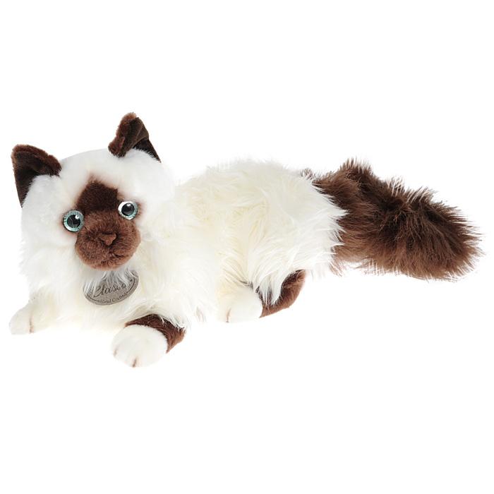 Мягкая игрушка Aurora Сиамская кошка, 45 см62-175Мягкая игрушка Сиамская кошка, выполненная в виде пушистой кошки с очаровательными голубыми глазами, вызовет умиление и улыбку у каждого, кто ее увидит. Удивительно мягкая игрушка принесет радость и подарит своему обладателю мгновения нежных объятий и приятных воспоминаний. Она выполнена из искусственного меха с набивкой из гипоаллергенного синтепона, а глазки кошечки изготовлены из пластика. Мягкие игрушки Aurora просты в уходе, легко стираются и не теряют при этом своего качества. Такая игрушка станет чудесным подарком к любому празднику.
